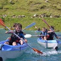 School kayaking in Alps