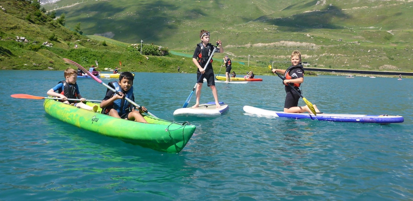 Paddling in Alps