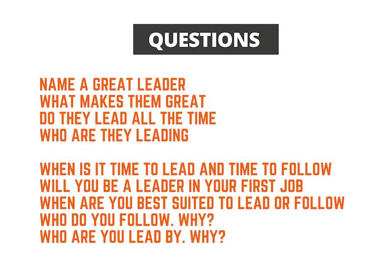 questions on Leadership & followership